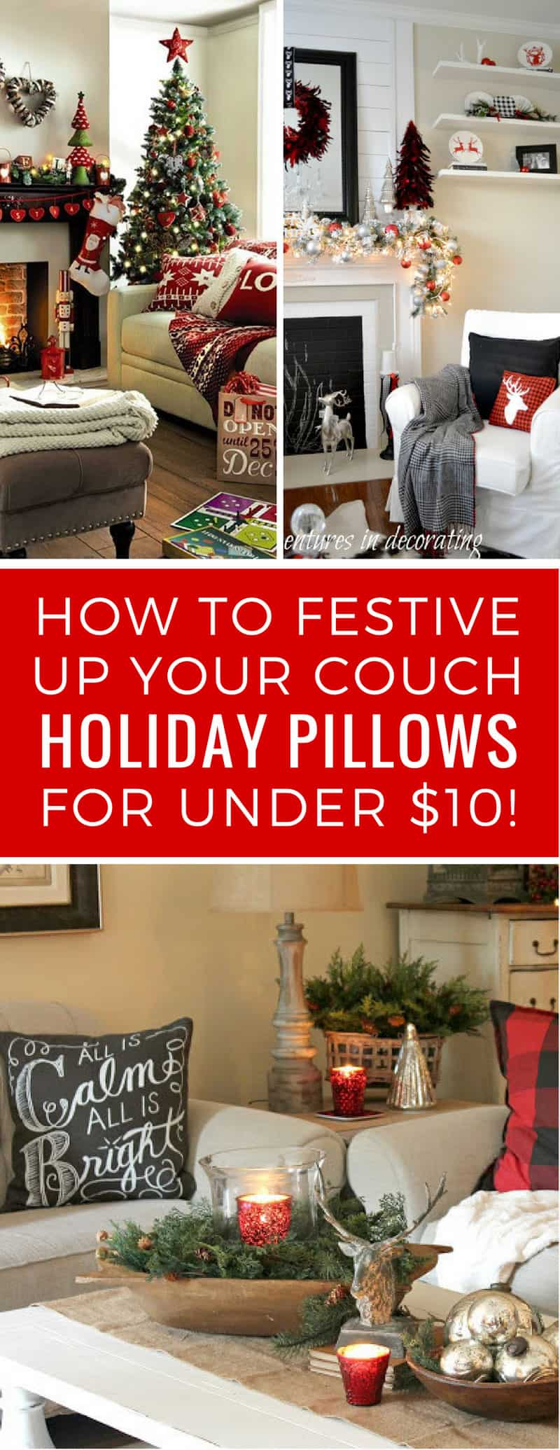 Loving these Holiday throw pillow covers - festive and homely!