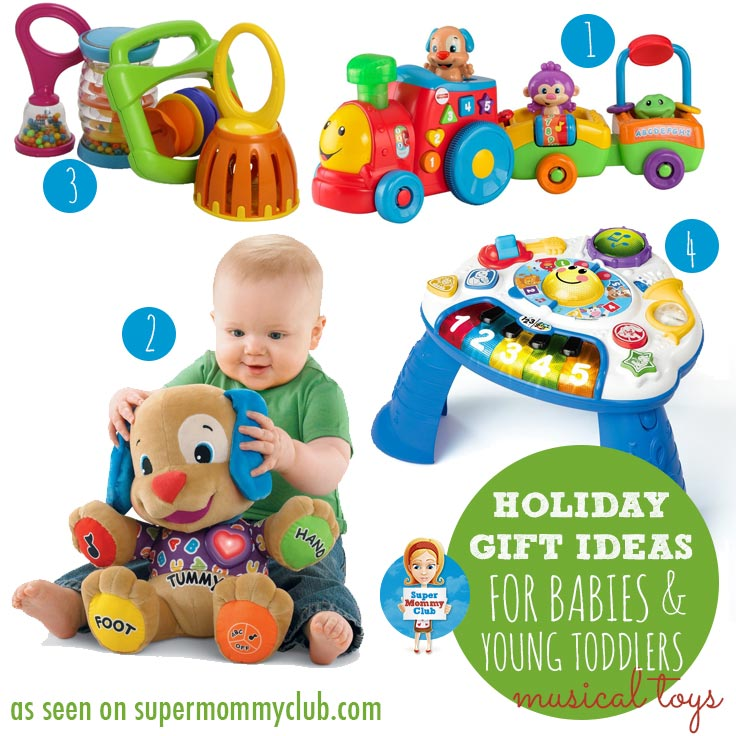 Musical toys are perfect for entertaining babies, and for encouraging creativity in young toddlers.