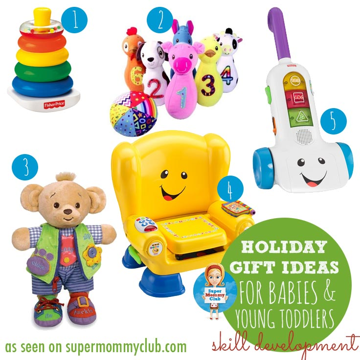 Toys that are great for developing fine motor and gross motor skills.