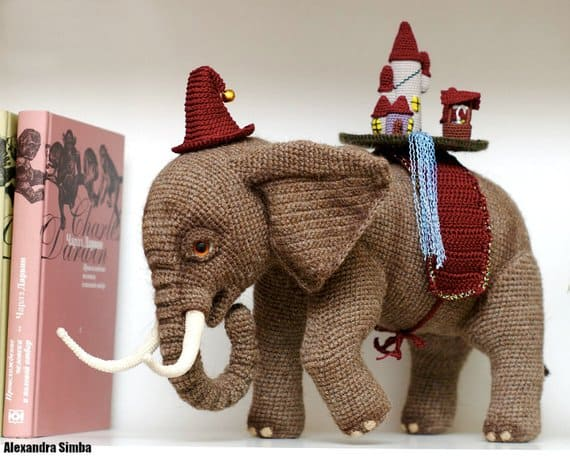 Decorative Crochet Elephant
