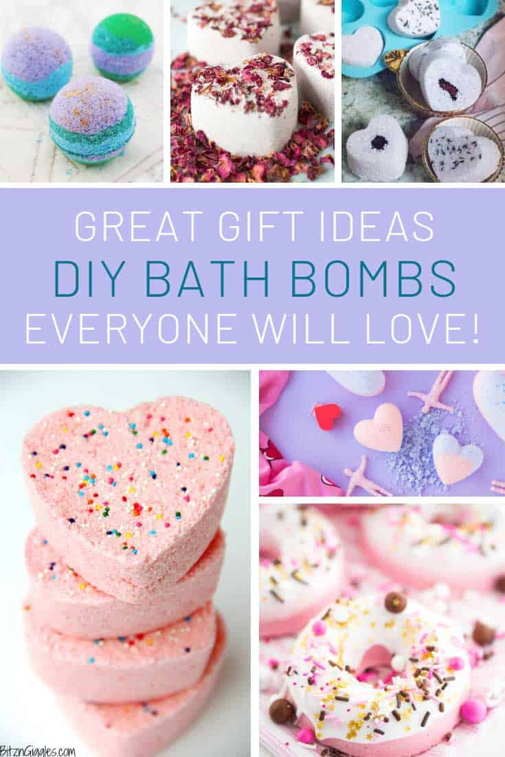 So many fabulous homemade bath bombs that make great gift ideas!