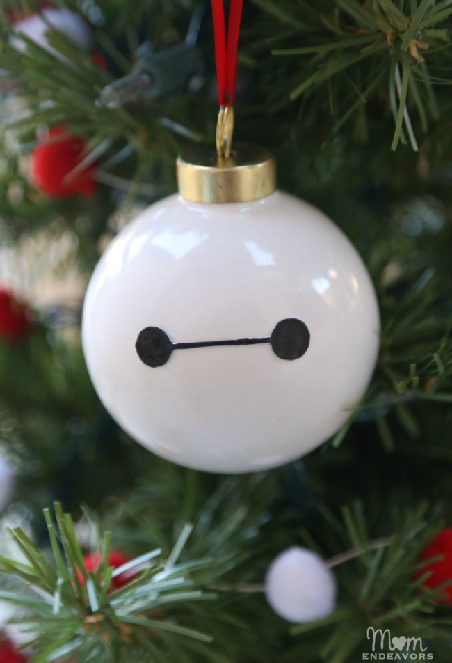 Homemade Baymax Ornament