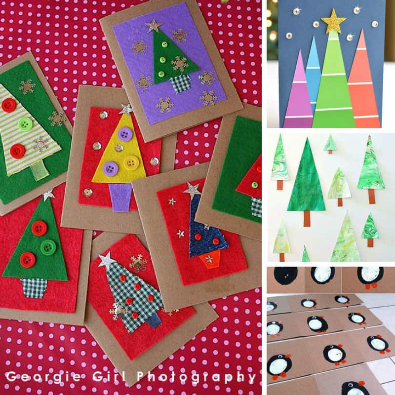 Loving these handmade Christmas cards - and the kids will enjoy making them for family and friends!