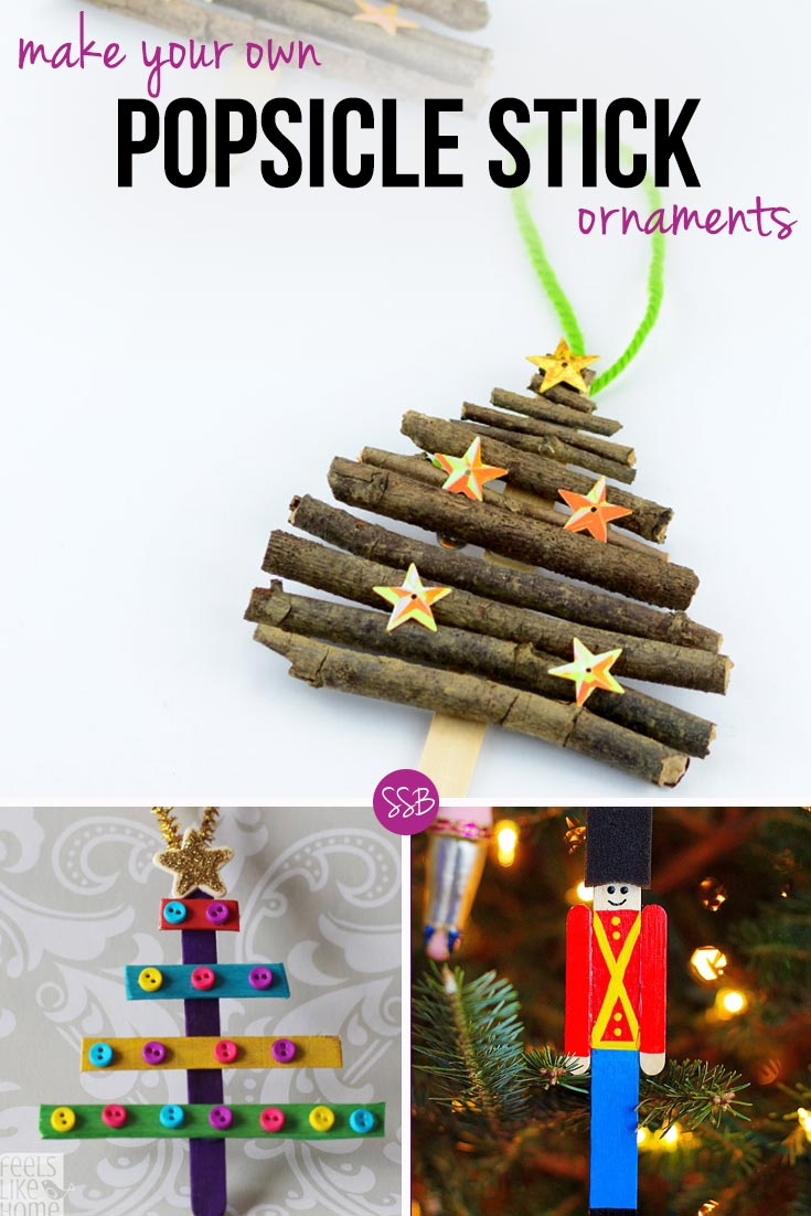 If you're looking for homemade Christmas decorations for kids to make using popsicle sticks (or craft sticks) then you are in the right place because we have 17 wonderful ideas! We've got Santas, and reindeers, ballerinas and angels, and even a Minion ornament!
