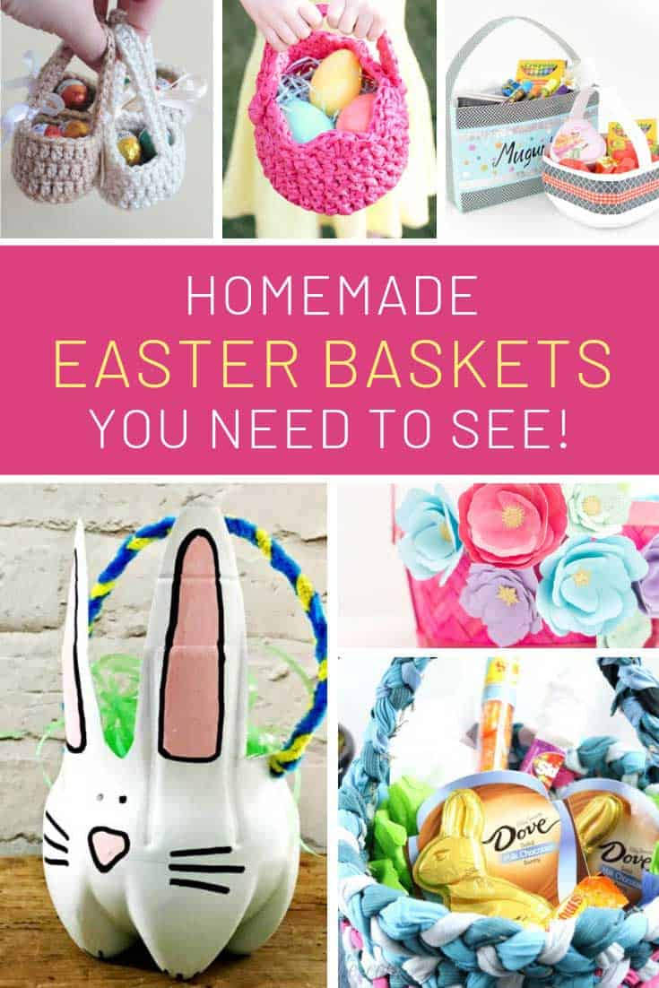 Loving these homemade Easter baskets!
