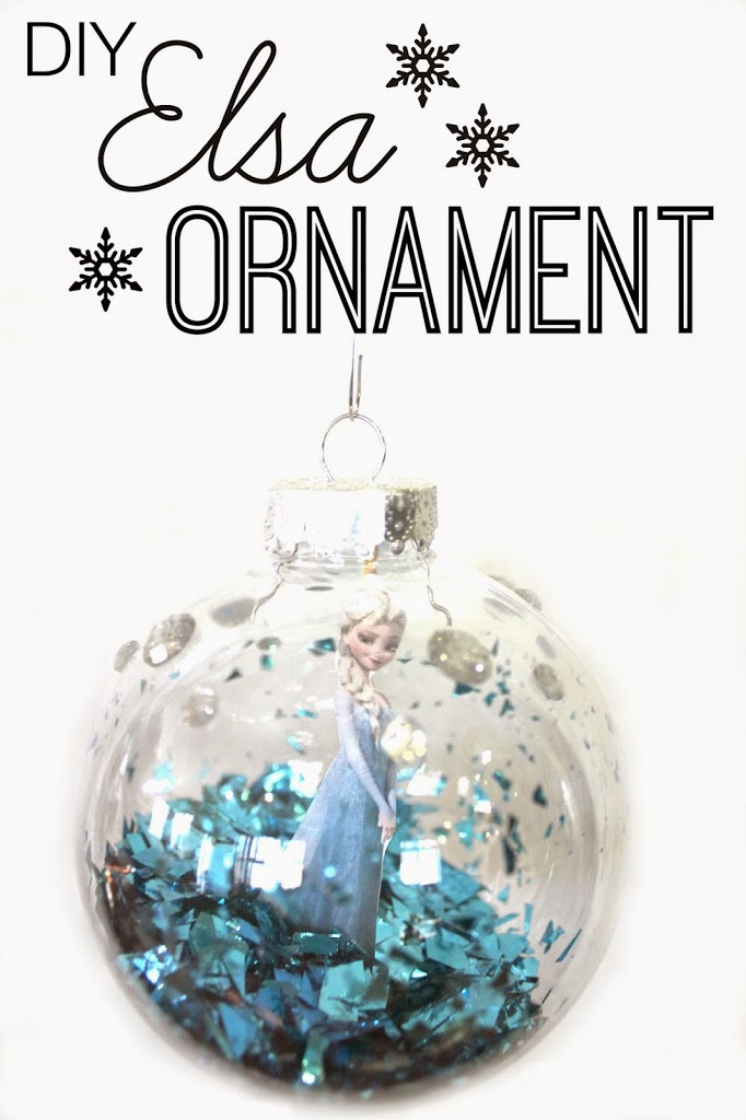 Homemade Else Frozen Ornament
