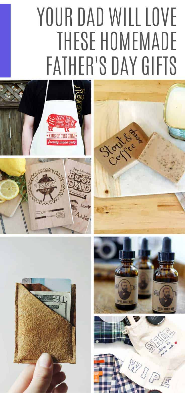 Check out these homemade Father's Day gifts you can DIY to show how much you care. From stout and coffee soap to a leather wallet there's a gift here for every type of dad!