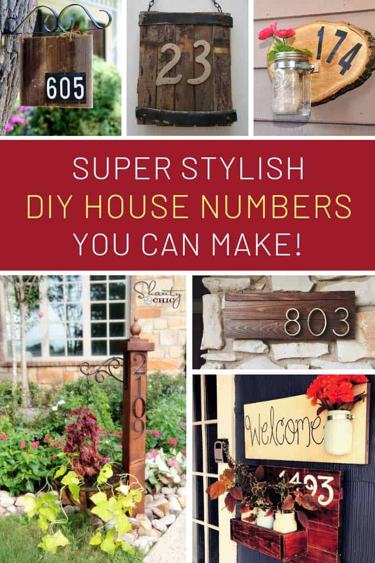 These homemade house numbers are super stylish and easy to DIY!