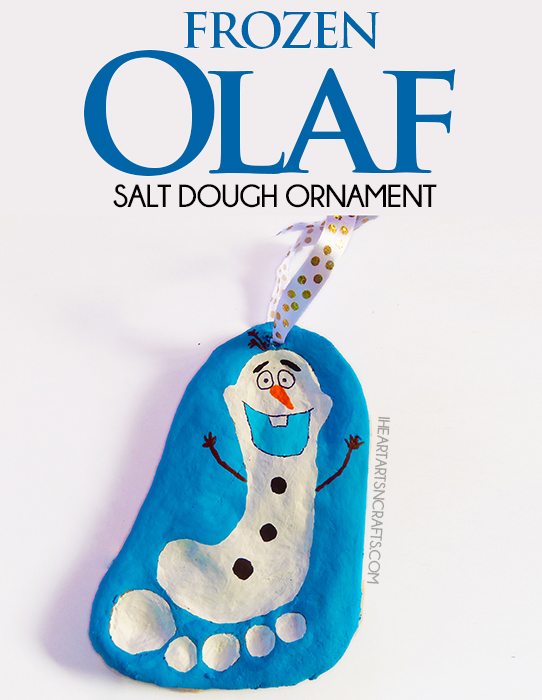 homemade olaf footprint christmas decoration