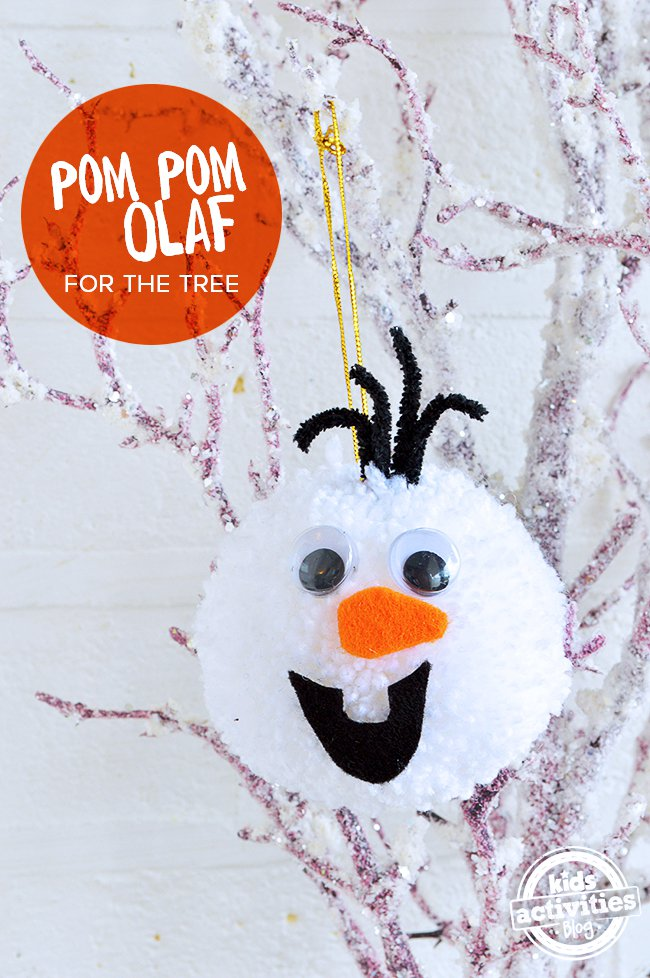 Homemade Olaf Christmas Decorations