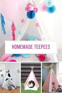 Loving these homemade teepees - and the kids will too!