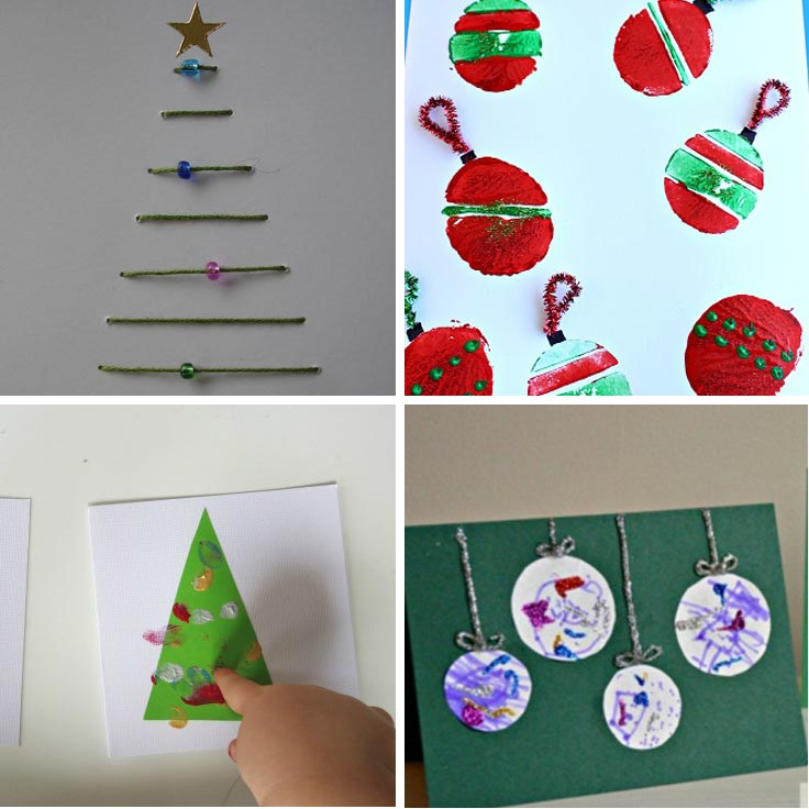 Charming Christmas Card Making Ideas For Toddlers Part - 8: Homemade Christmas Ideas For Toddlers: Homemade Christmas Card .