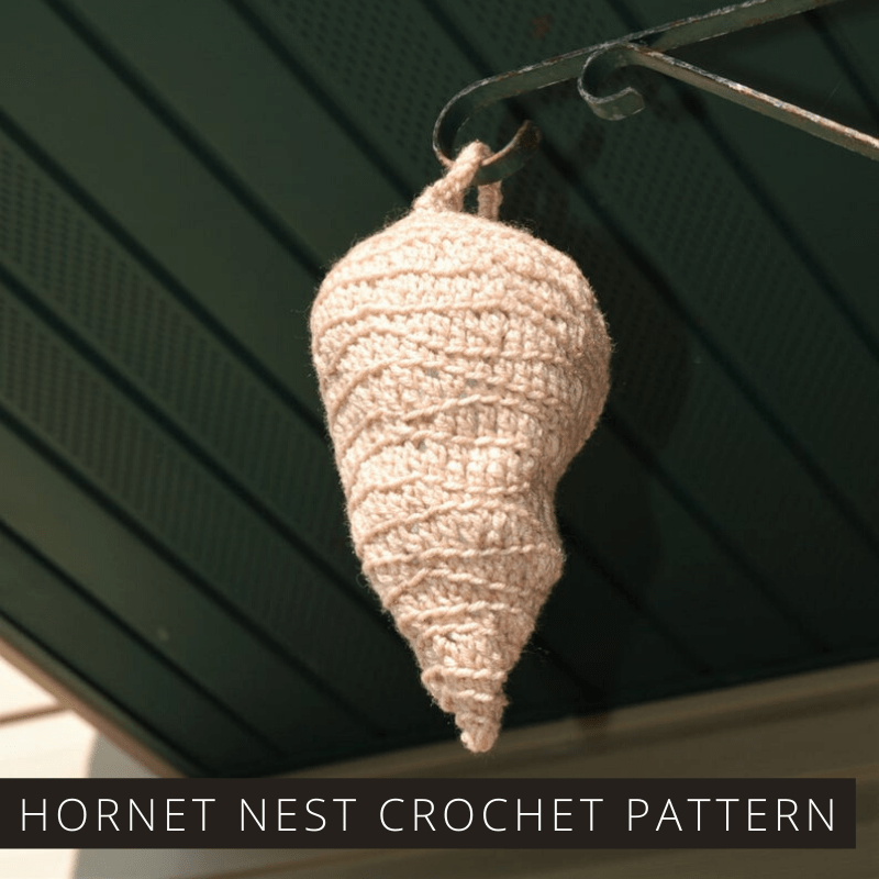 If you have hornets or nests taking over your outdoor patio you should check out this crochet pattern to make a natural deterrent to keep them away.