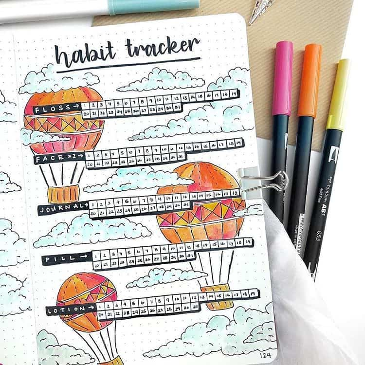 Hot Air Balloon Habit Tracker