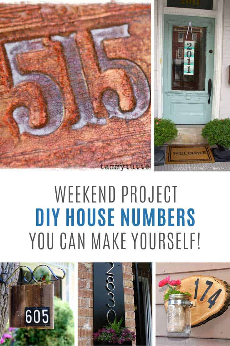 Loving these house numbers you can DIY this weekend!