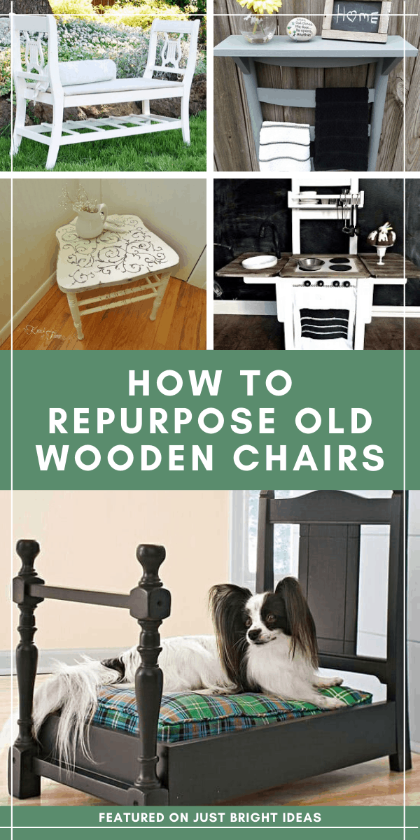 Check out these clever ways to upcycle old chairs into something useful for your home - and then head out to the flea market to find some! #repurpose #upcycle #diy