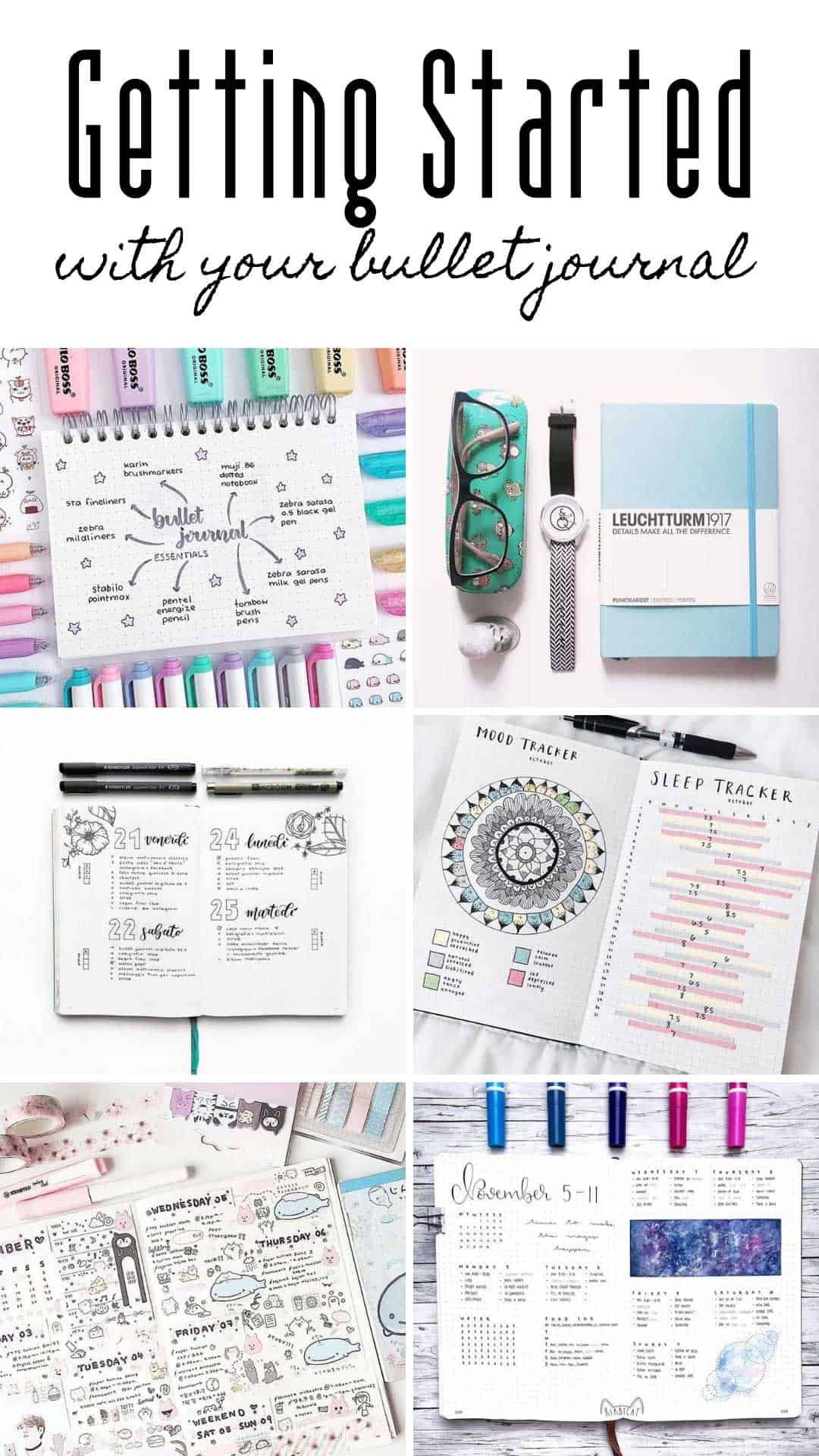 Wondering how to bullet journal? Check out this guide which will walk you through the set up step-by-step! If you're looking for bullet journal ideas for 2019 they're all here! #bulletjournal