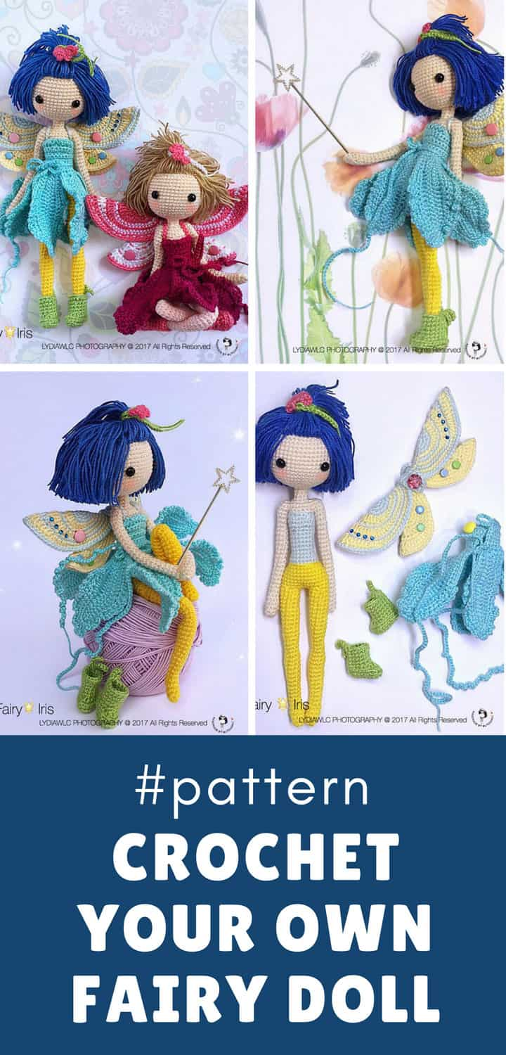How to Crochet a Fairy Doll - Pinterest