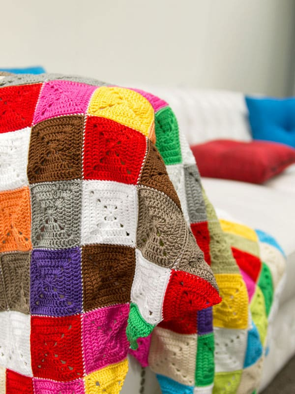 How to Crochet a Lap Rug in Kaleidoscopic Colours