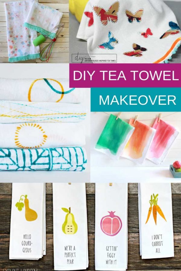 Find out how to decorate kitchen towels in 20 different ways. From embroidery and crochet trims to tie dye there is a project here for you