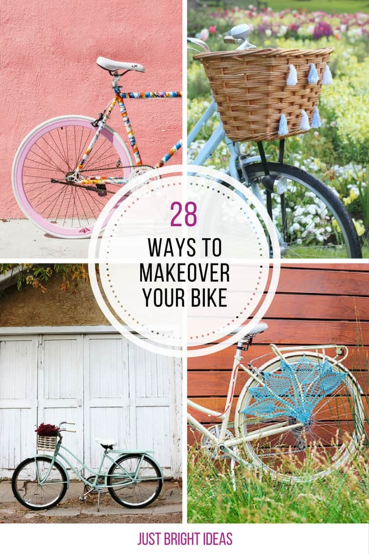 28 genius ways to make your bike look fabulous for Bike decorating ideas