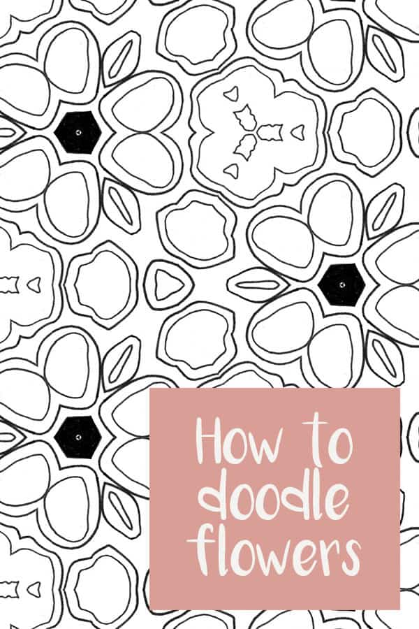 Easy Flower Doodles {Video tutorials to show you how to