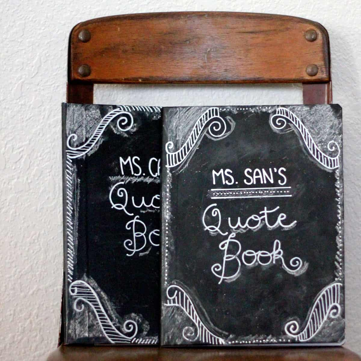 How to Make Chalkboard Journals