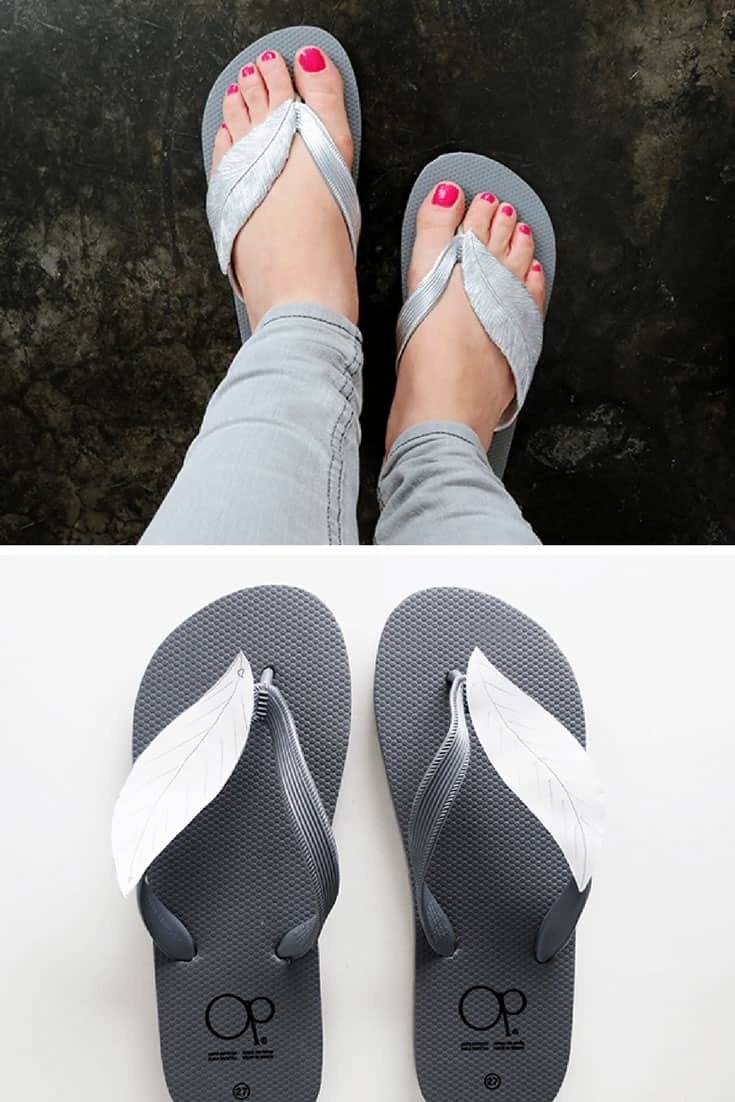 How to Make Feather Flip Flops