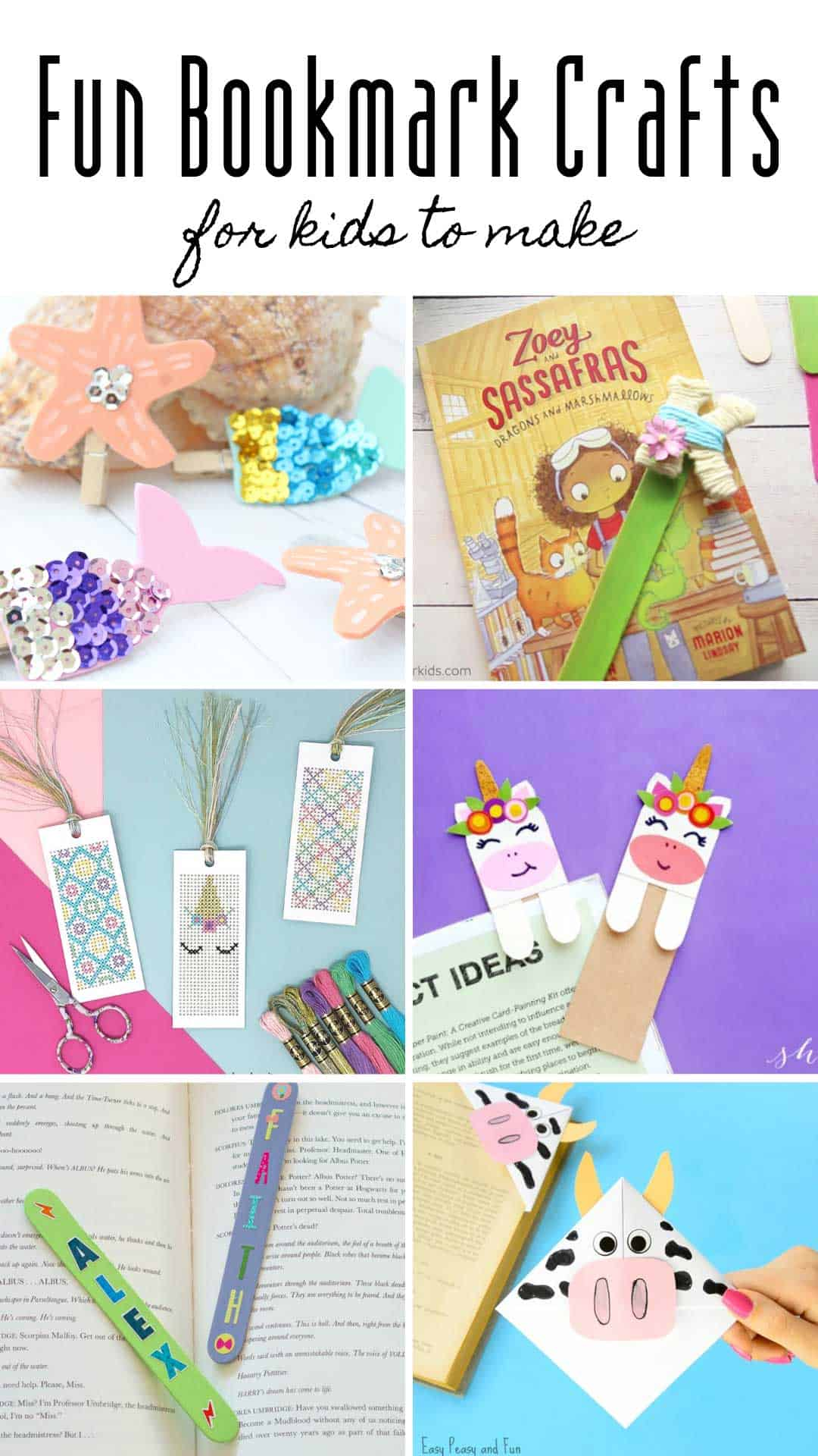 Want to show your kids how to make a bookmark this summer? Check out these fun bookmarks for kids to make. I love all the unicorn craft options!