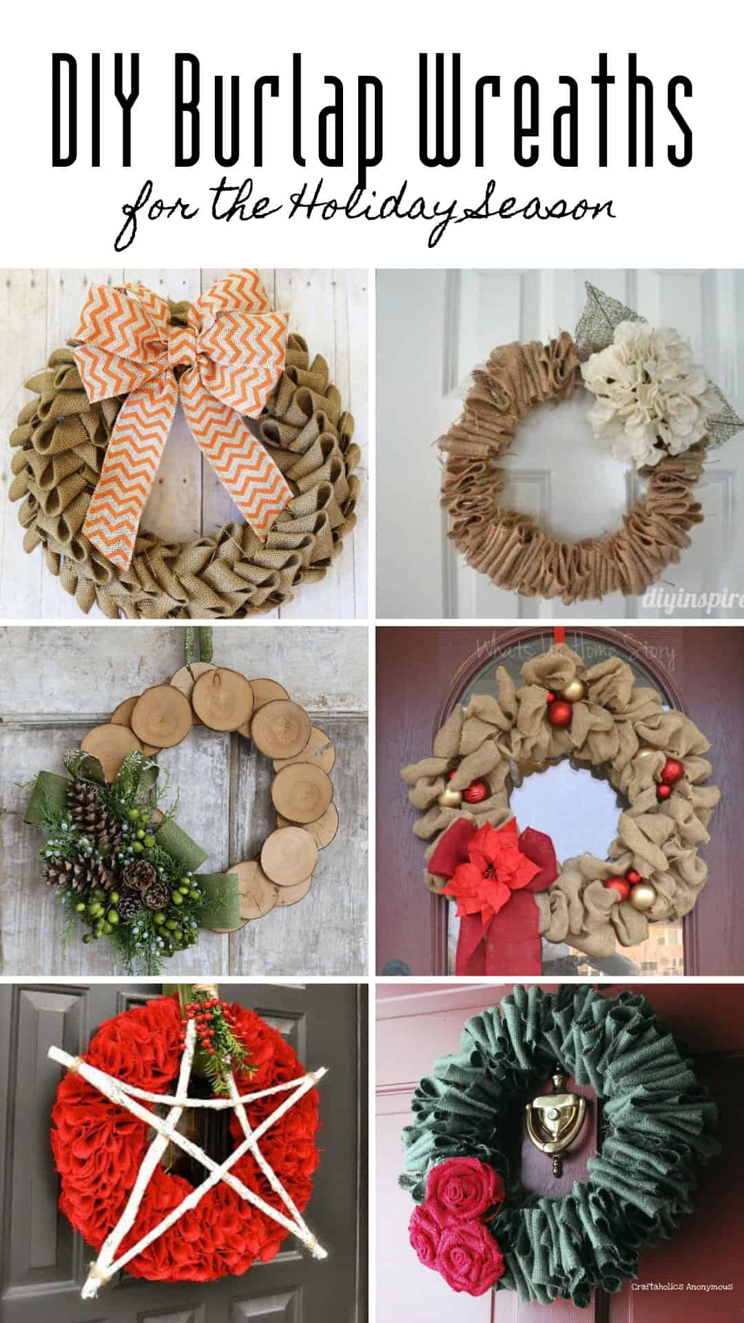 If you're wondering how to make a burlap wreath for your home we've got you covered with a video tutorial and TONS of ideas of how to dress it up for each and every Holiday!