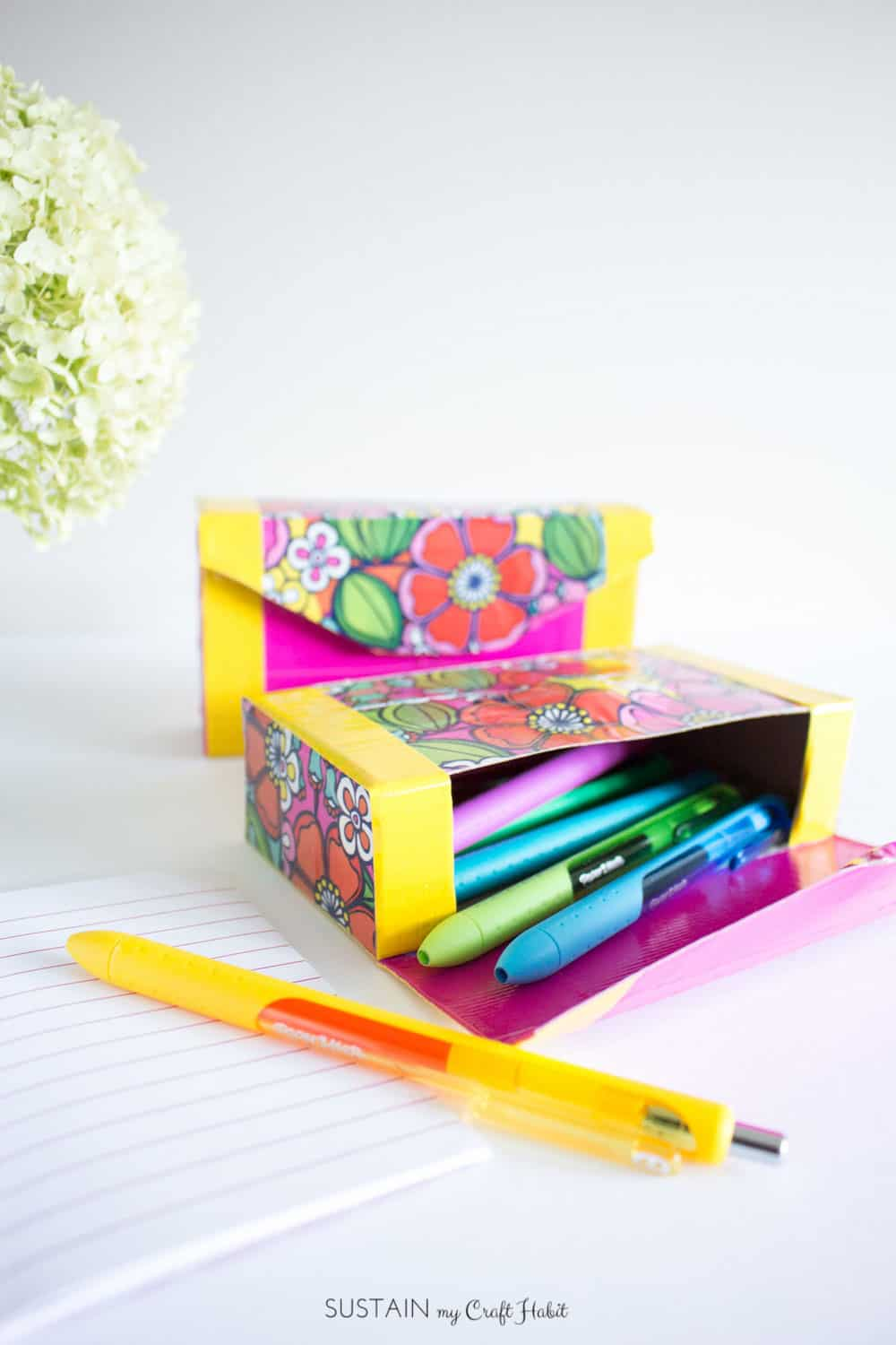 How to Make an Upcycled Pencil Case Using Duck Tape