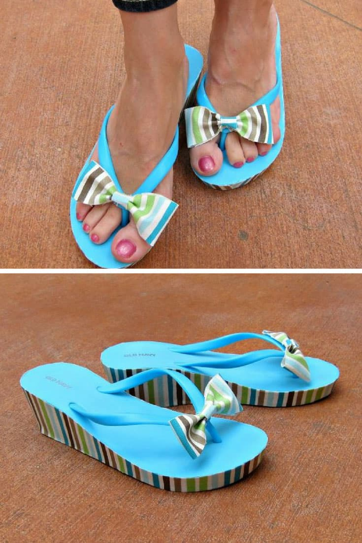How to Mod Podge Your Flip Flops