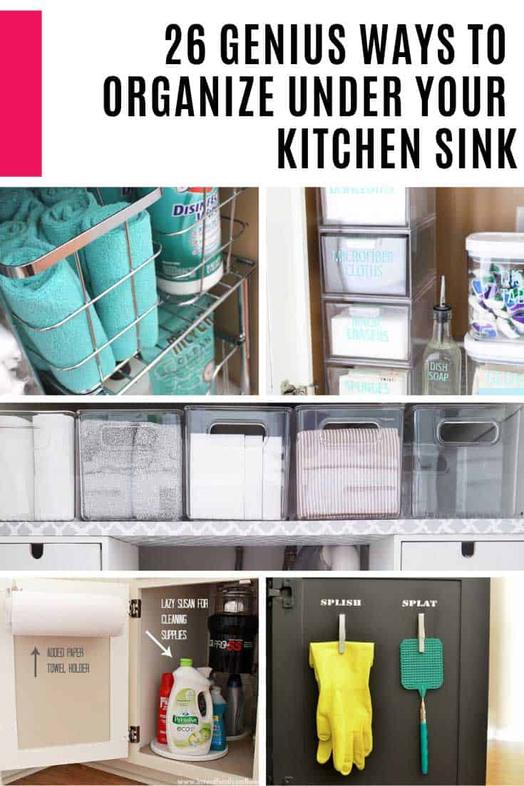 Find out how to organize under your kitchen sink so you can finally put an end to the chaos that lives inside that cabinet!