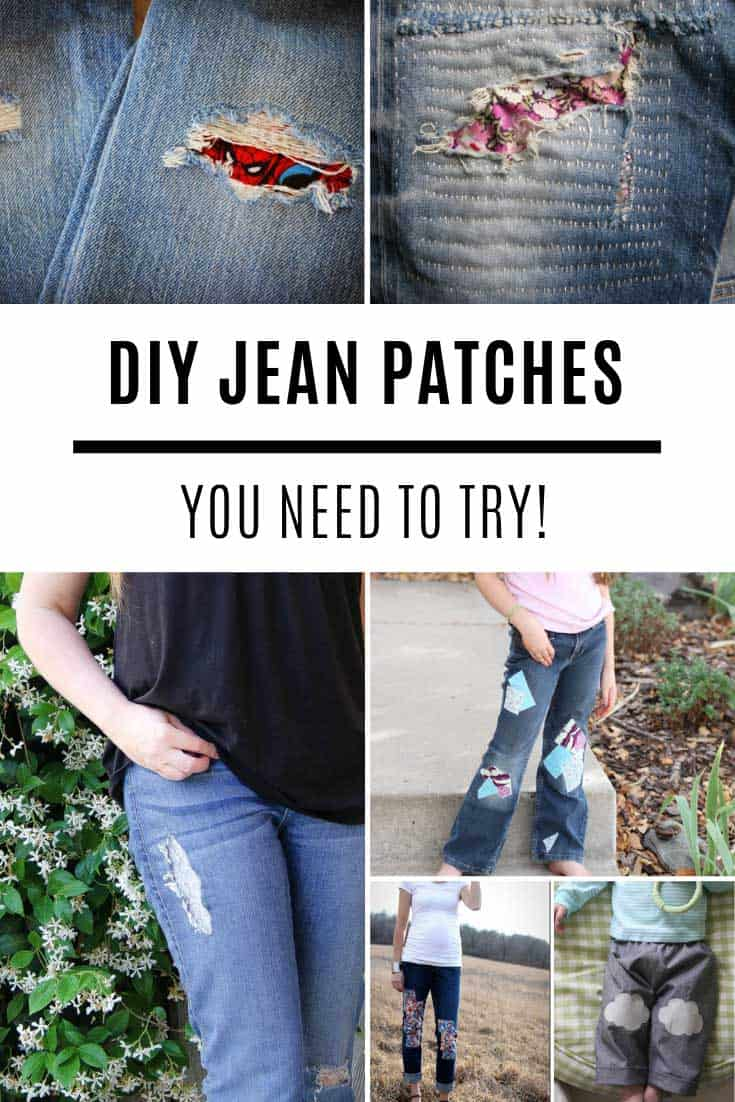 Want to know how to patch jeans so they still look cute? Here you go!