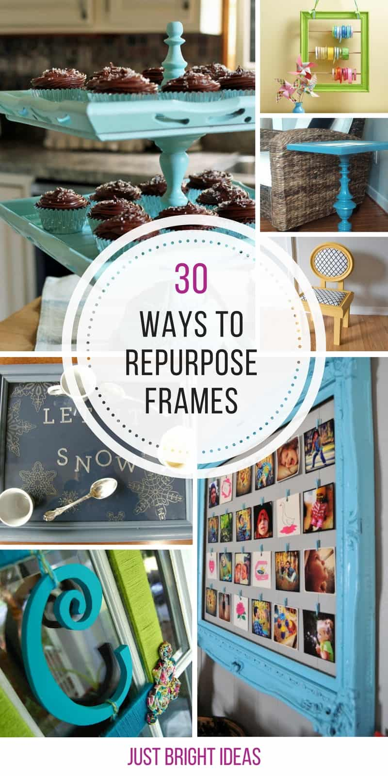 These repurposing projects for old picture frames are genius! Thanks for sharing!