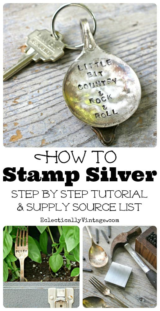 How to Stamp Silverware Tutorial