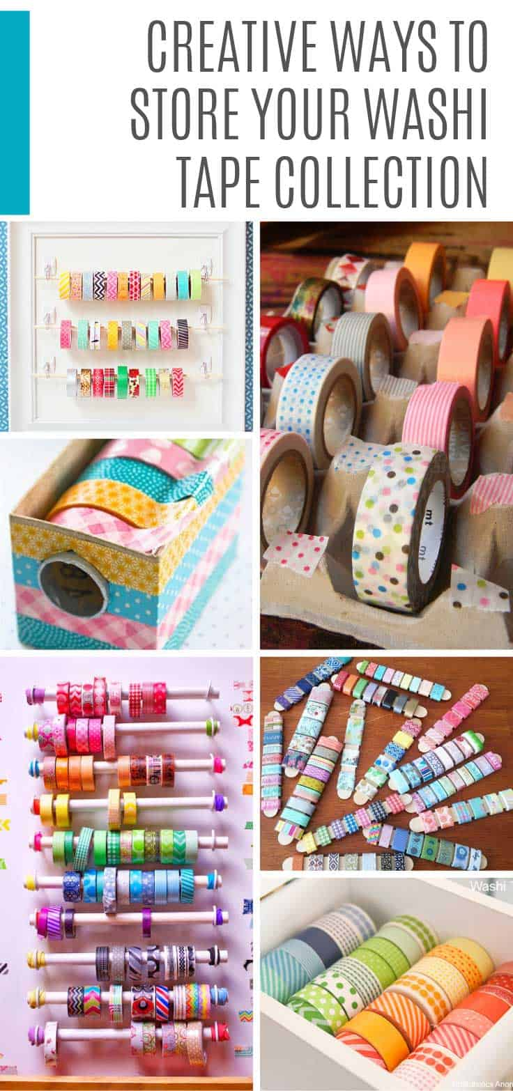Wondering how to store washi tape? We've for a ton of DIY storage ideas for you to make this weekend.