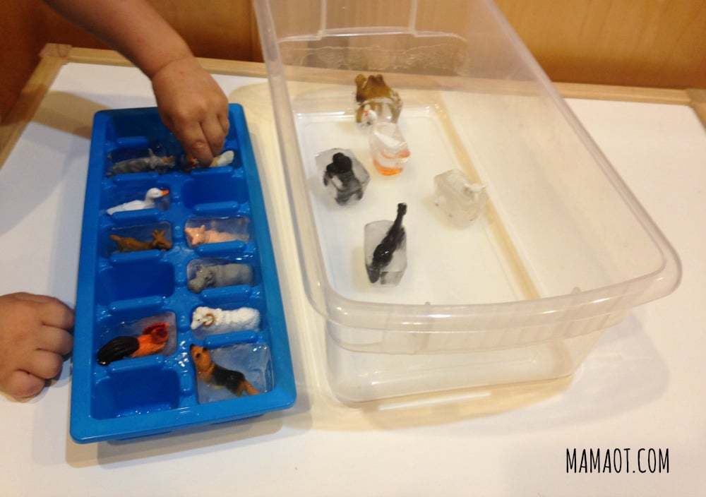 How to Use an Ice Cube Tray for Fine Motor Development
