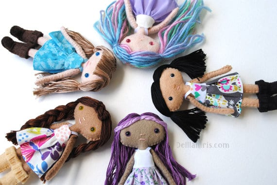 How to make 5 inch dolls using felt