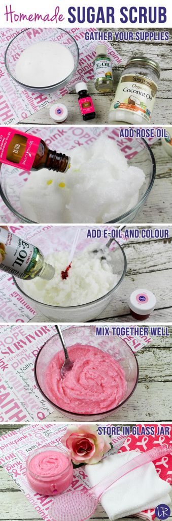 How to make a sugar scrub - step by step