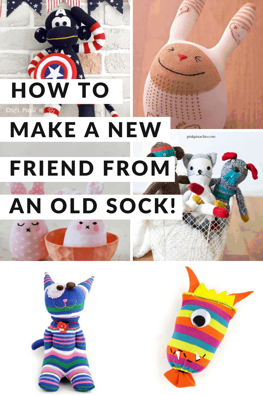 Find out how to make an adorable sock plushie or two - that make great playmates for your kids!