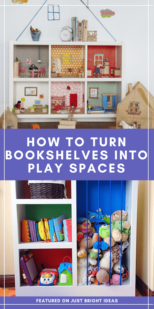 Find out how to upcycle an old bookshelf into a doll's house or sand pit for your child