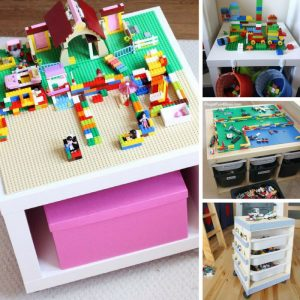 Wow these Ikea hack lego tables are just brilliant! I'm tired of stepping on bricks!