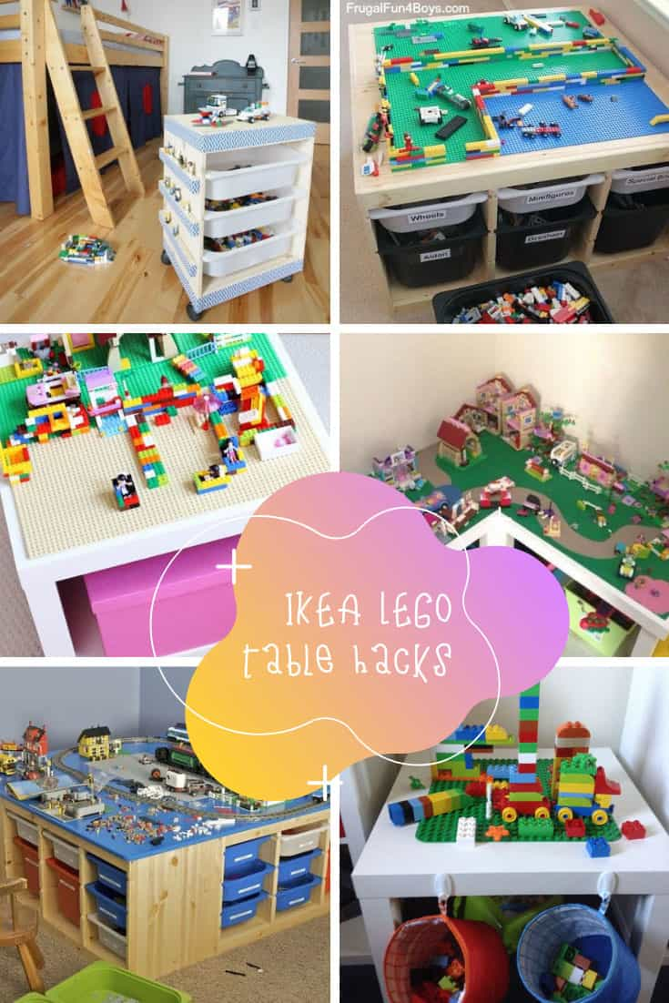 These IKEA LEGO table hacks are genius - and your kids will have endless hours of fun!