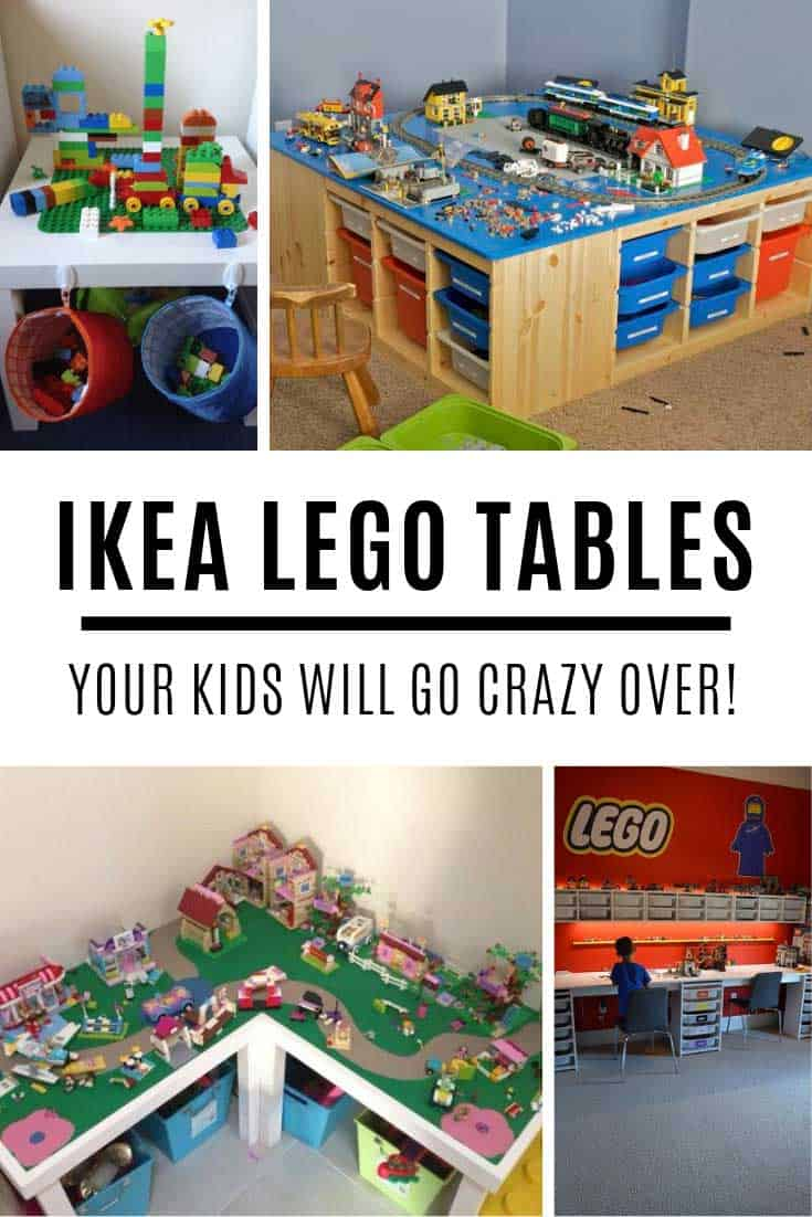 Oh my goodness how GENIUS are these IKEA lego table hacks!