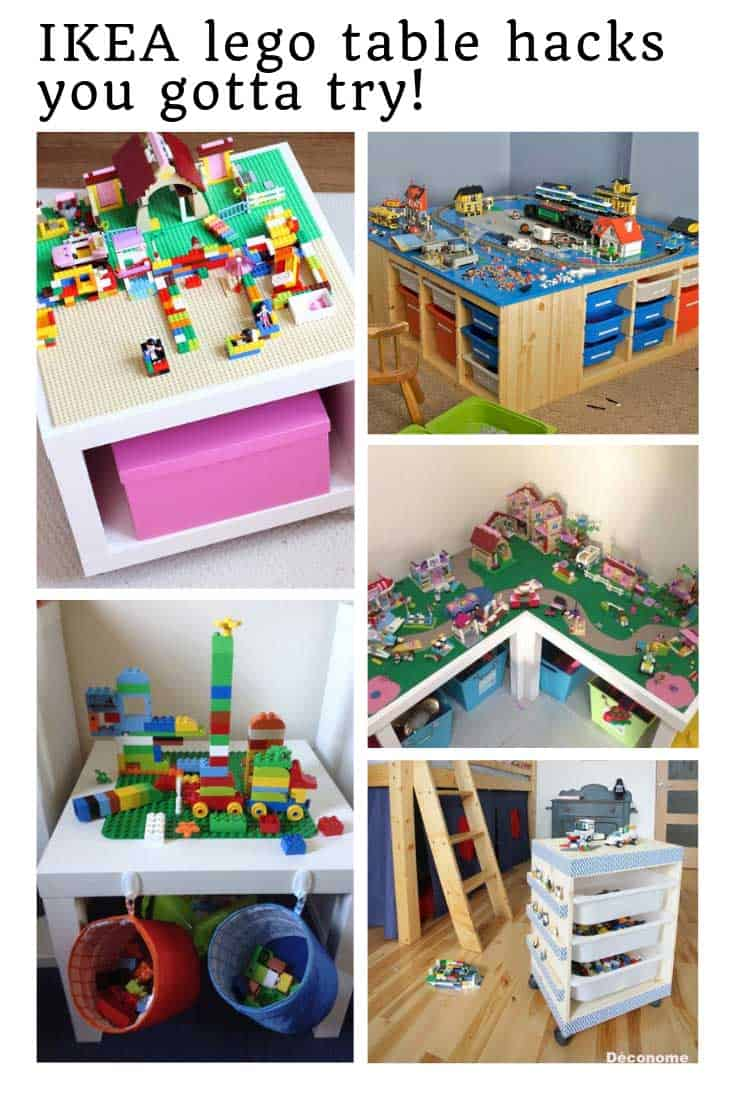 These IKEA Lego table with storage hacks are just so clever!