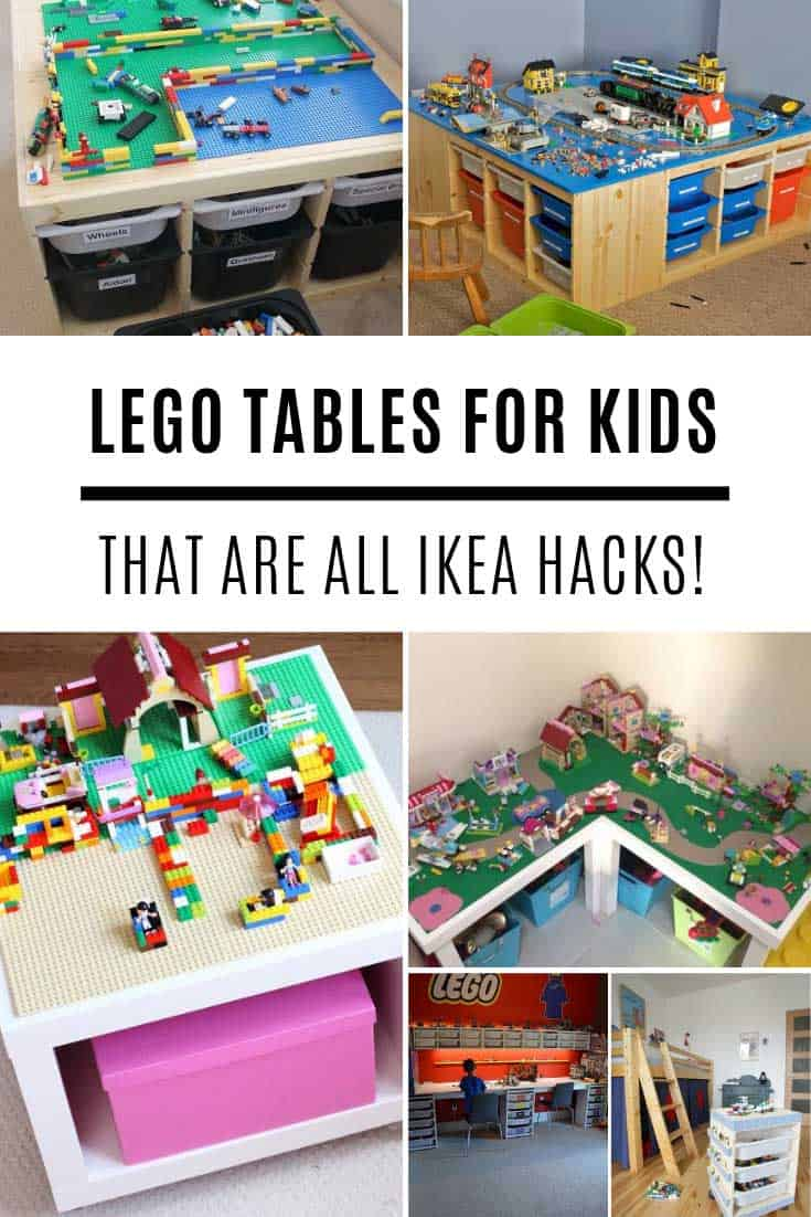 Wow these IKEA lego table hacks are insanely GENIUS!