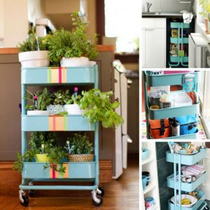 So many genius uses for the IKEA Raskog cart in the kitchen!