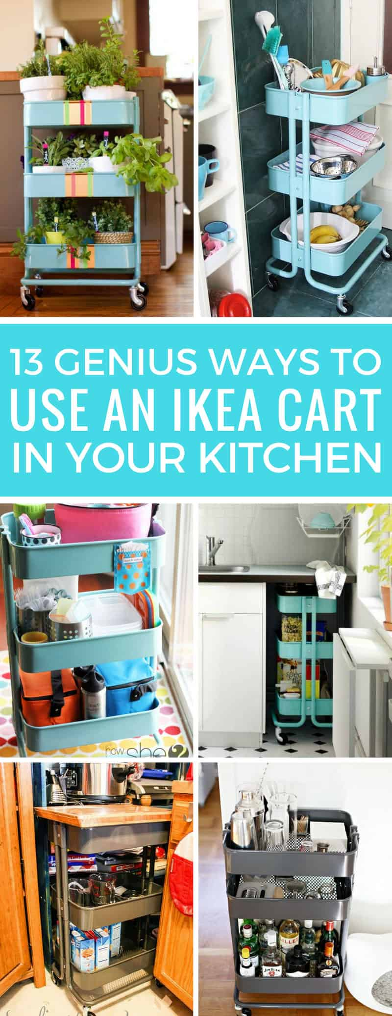 Who knew there were so many GENIUS ways to use the IKEA Raskog cart in the kitchen! I might need to buy two!