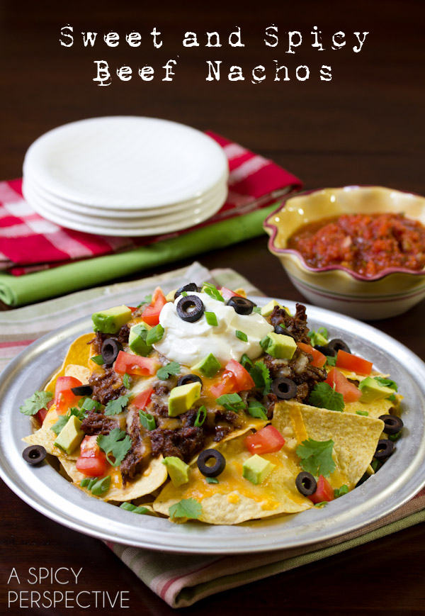 Sweet and Spicy Beef Nachos